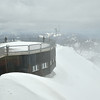 Snow squall at Schilthorn.