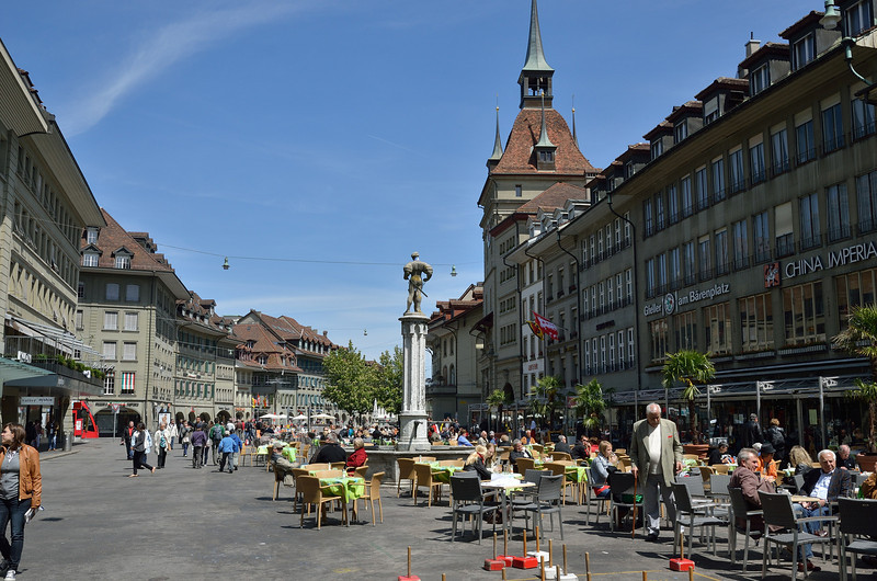 Part of the old town area of Berne on Ascension Thursday, May 17, 2012.