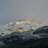 Evening sun on fresh snow added to the mountains above Meiringen.<br /> Wednesday, May 16, 2012