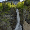 Reichenbach Falls near Meiringen, site of the fictional disappearance of Sherlock Holmes and Moriarty.  Their fight is reenacted periodically.
