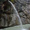 Schraybach - stream falls into the Aare Gorge from above.