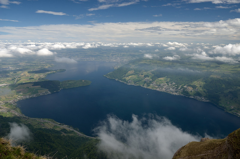 View from the top of Mt. Rigi near Lucerne.<br /> May 21, 2912