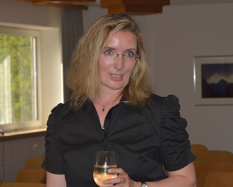 Anja Mortensen, our group leader, making a point at the farewell reception.