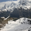 Longest aerial cableway in Switzerland goes up to the Schilthorn.<br /> View of the Jungfrau Massif.<br /> May 18, 2012