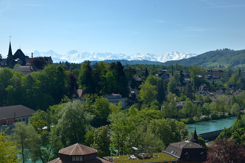 Berne and Aare River beneath the Swiss Alps.<br /> Thursday, May 17, 2012