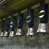 Cow bells displayed at Ballenberg Open-air museum..<br /> Sunday, May 20, 2012