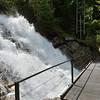 Crossing Giessbach Falls.
