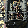 Detail of the Tower Clock of Berne with bear cubs filing past as the rooster crows and Father Time changes the hour.