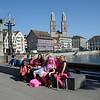 Fair maidens advertizing Victoria's Secret.<br /> Zurich.  May 26, 2012