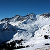 """Near the top, just to the right of the middle peak is a set of moguls that are almost vertical.  This is called """"The Swiss Wall"""""""
