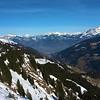 Looking back down the valley towards Lake Geneva.