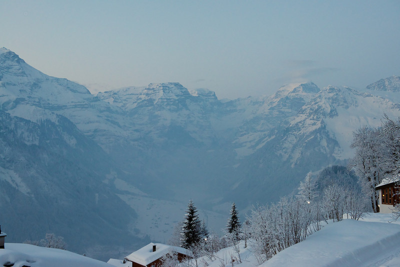 In March I came back to Switzerland for six weeks in a town called Braunwald.