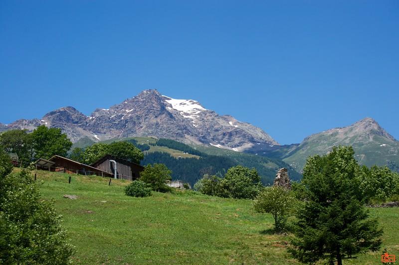 Climbing the Alps into the Bernina Pass on the Bernina Express train.<br /> DSC01535