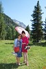 Rosa and her mother in the valley outside Pontresina.<br /> IMG_9921