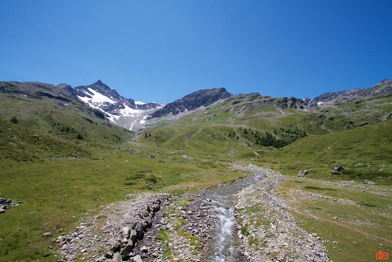 The Bernina Express took us over the Bernina Pass at (2,253 metres).<br /> IMG_9881