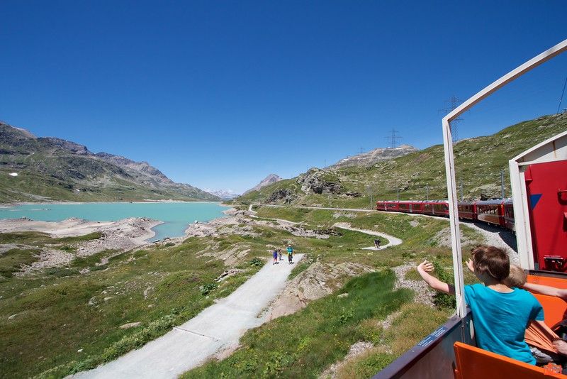 Lago Bianco is a reservoir on the Bernina Pass. It was an amazing view.<br /> IMG_9868
