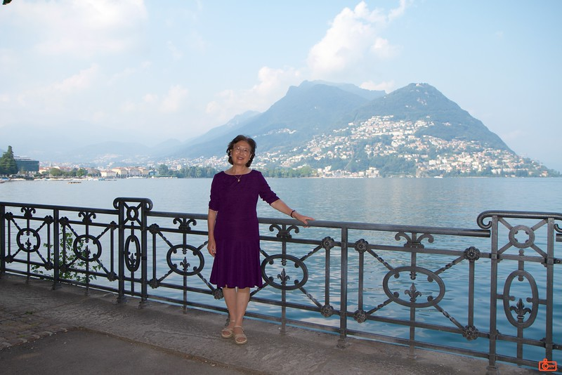 Rosa's mother by Lake Lugano.<br /> IMG_9797