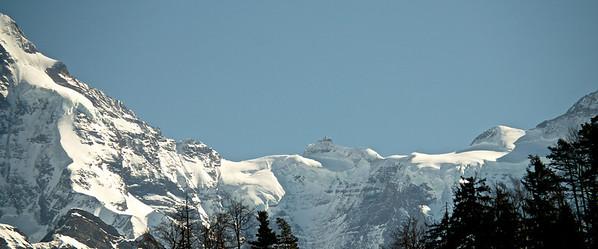 Jungfraujoch, taken from Unterseen (very far away....).