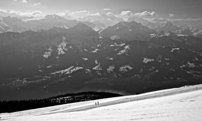 On top of the Niederhorn.