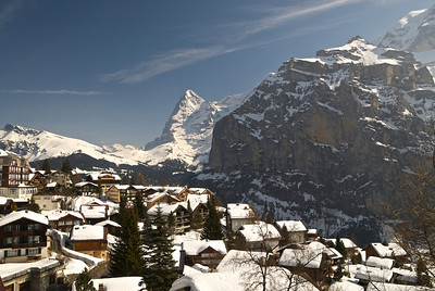 View from a restaurant in Mürren, with Eiger in the background