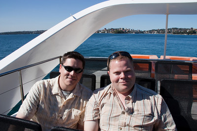 Greg and Carl on the ferry to Circular Quay.