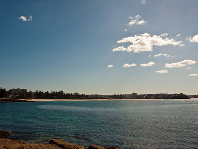 View of Manly Beach near Manly Cove -- at least I think this is what it was called ;-)