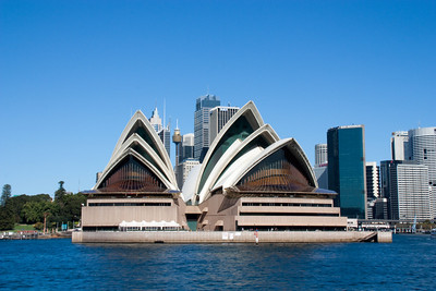 Sydney Opera House as seen from our ferry coming into Circular Quay.
