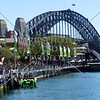 The Harbour Bridge in Sydney, Ausralia.