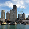 View of the Circular Quay wharf at the harbour of Sydney, Australia.