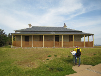 Restored lighthouse keeper's cottage at South Head.