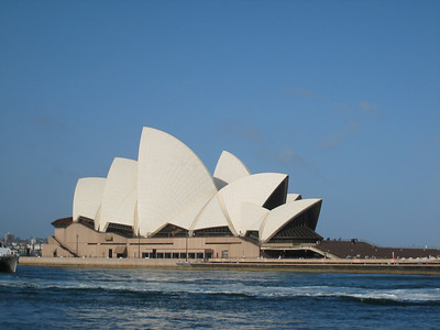 The Sydney Opera House, taken from the River Cat.