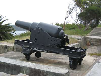Interestingly this cannon was installed to protect Sydney against the Americans back in the 1800s.