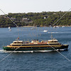Ferry boat cruising along the harbour in Sydney, Australia.