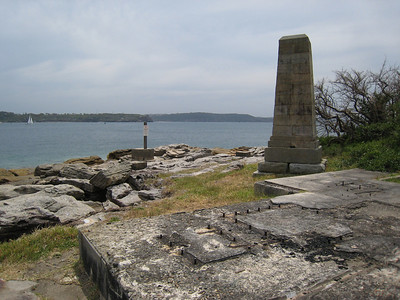 Monument on the walk to South Head.  During WWII there was an anti-submarine net across the harbour entrance from this point to another on the opposite shore.
