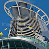 Cruise ship funnel