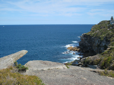 On the cliffs at Dee Why.