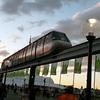 Monorail at Sydney harbour, Australia.