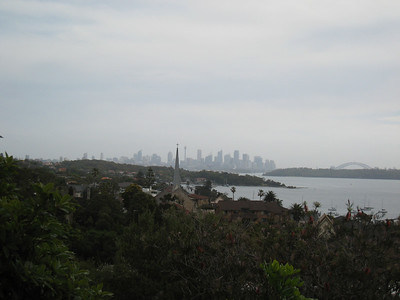 Looking back towards the city, the harbour bridge on the right.