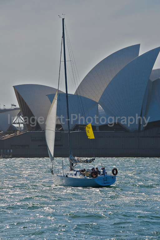 Sailing in front of the Sydney Opera House