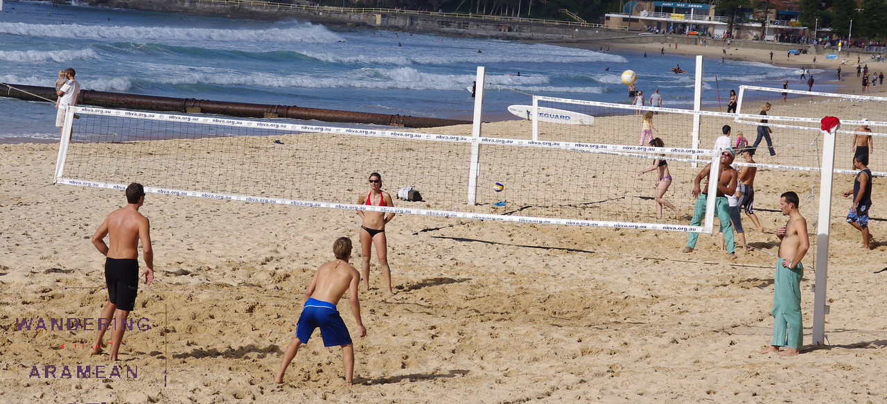 Beach volleyball at Manly