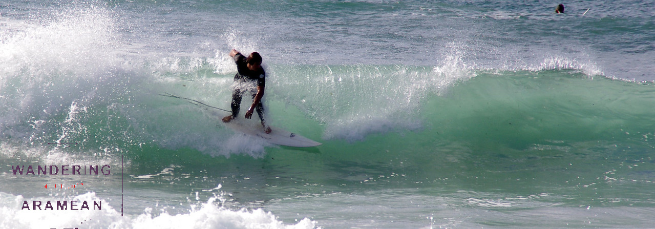 Another surfer at Manly Beach