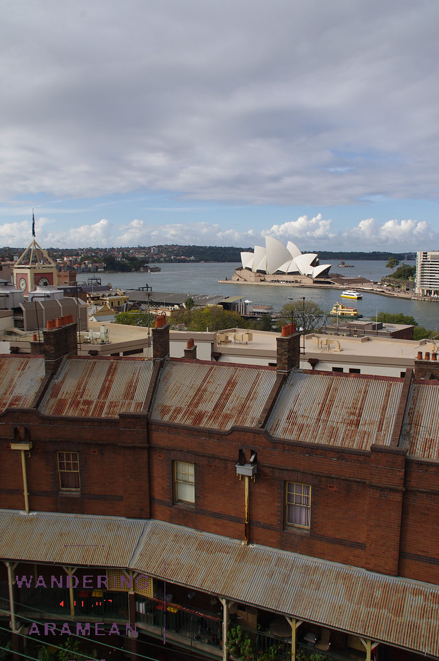 The view from the roof of the YHA Hostel in the Rocks. Hard to beat!