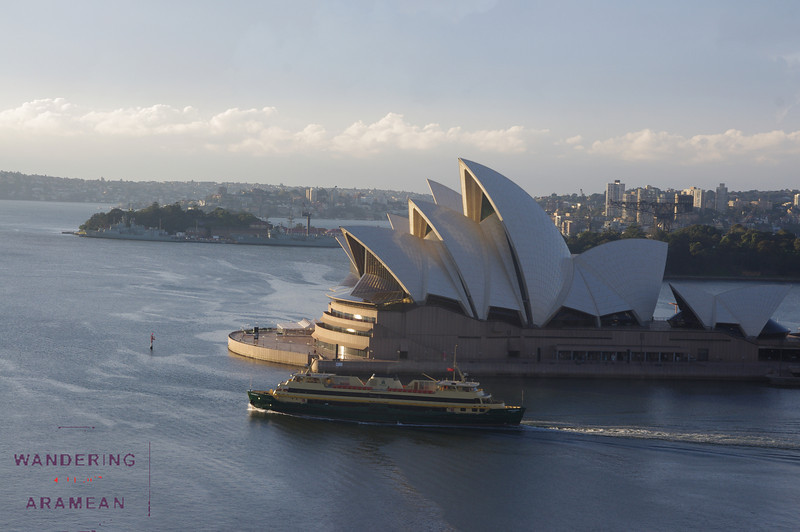 Shortly after sunrise as seen from the Harbour Bridge