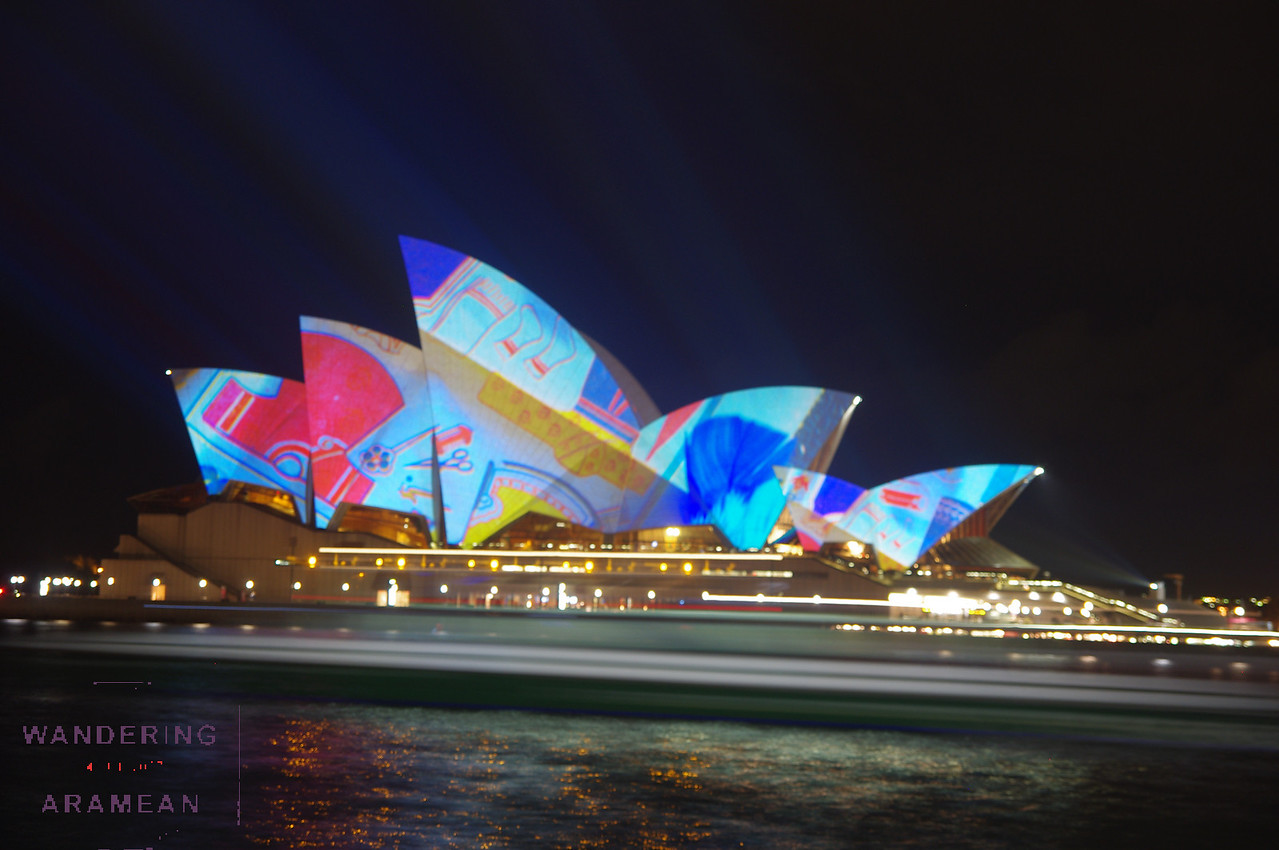 """Vivid Sydney"" has the Opera House all lit up. It was quite strange."
