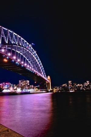 Harbour bridge vivid 2015