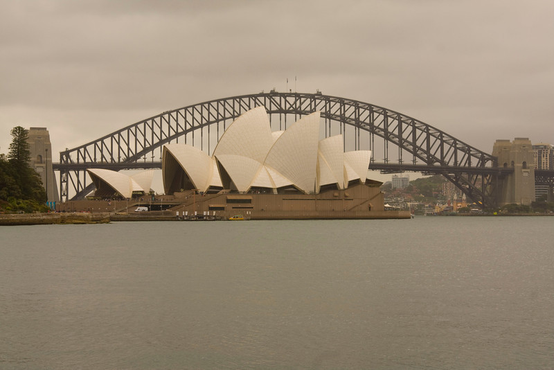 A different angle for the opera house & harbor bridge.