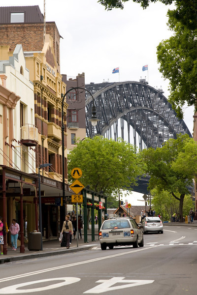 Harbor bridge, Sydney street
