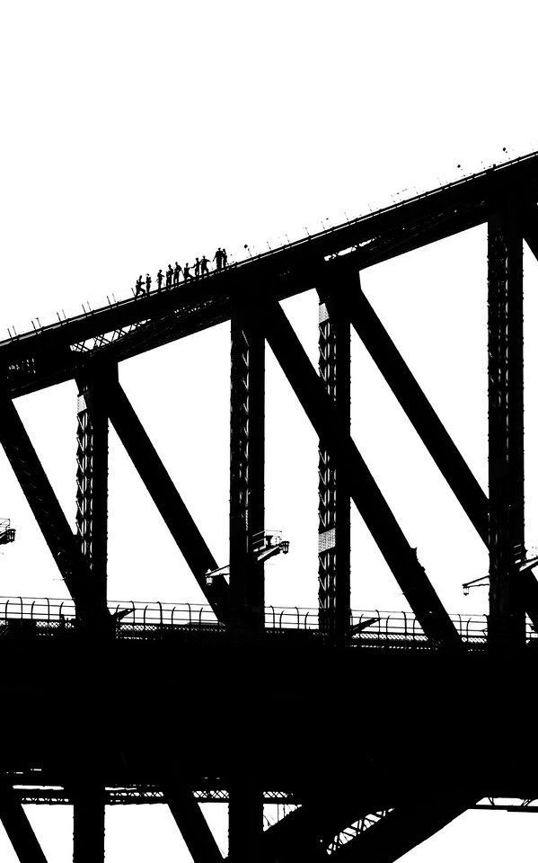 Harbor Bridge climbers