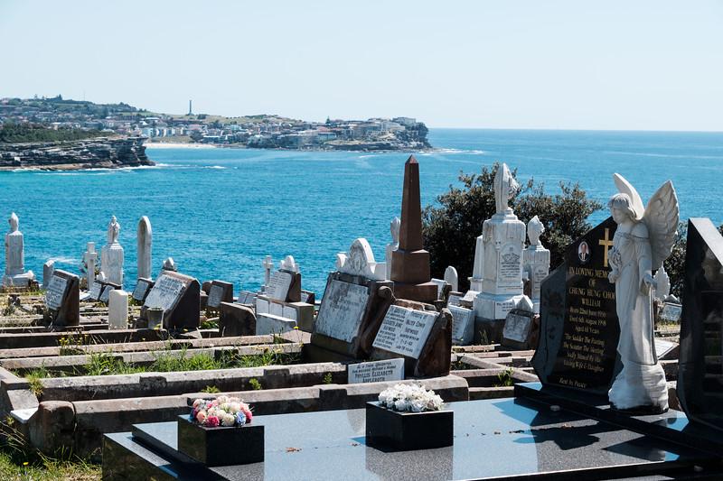 Even the dead are near the sea here