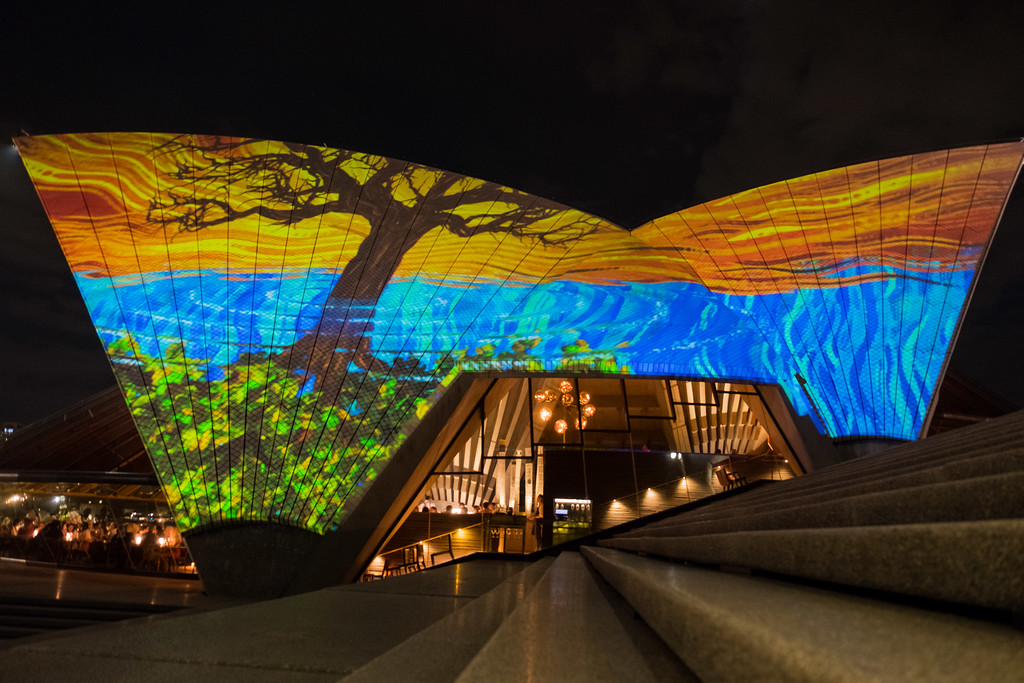 Aboriginal art projection